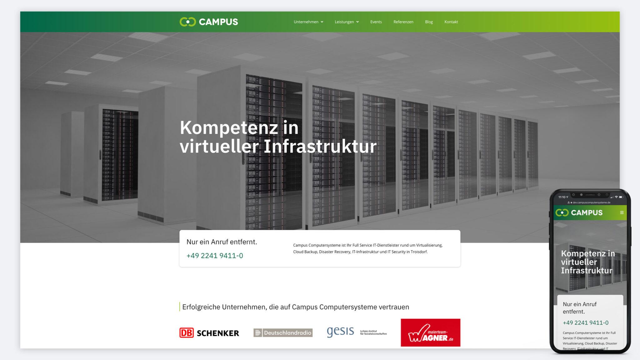 Campus Computersysteme Neue Website